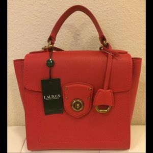 NWT Ralph Lauren Millbrook Red Purse